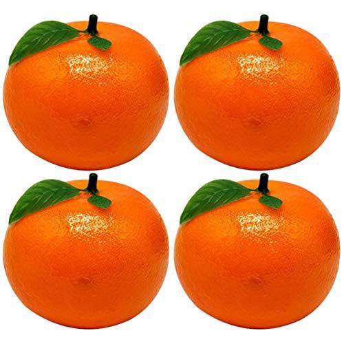 BESPORTBLE, 4 peças, tangerina artificial falsa de limão, lima, espuma realista, laranja, frutas, vegetais, adereços para fotografia, decoração de casa, festival, mesa