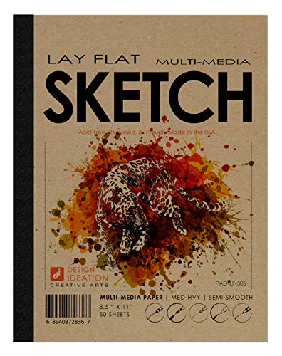 Design Ideation Lay Flat Multi-Media Sketch Pad. Removable Sheet...