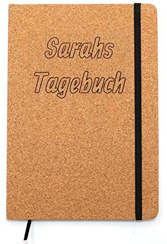 Individuelles Kork Notizbuch A5 Namen Laser-gravur Hardcover Tagebuch 160 Seiten liniert