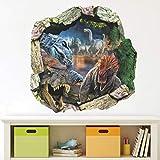 Adhesivos De Pared De Dinosaurio 3D Extraíble,Adhesivo Dinosaurio Vinilos Decorativos,Adhesivo De Dinosaurio Para Niños,Pegatinas De Pared De Dinosaurios,Vinilos Dinosaurios (Color 39nn)