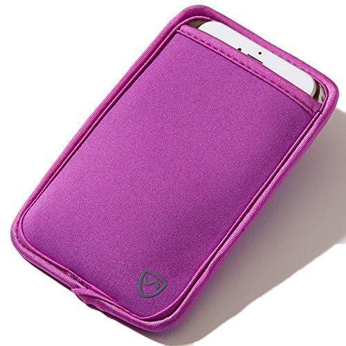 SYB - Funda Protectora de Neopreno CEM para teléfonos móviles de hasta 8,3 cm (3,25 ') de Ancho, Morado