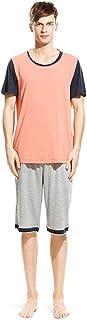 Pajama Set Men's Summer Short Sleeve Round Neck Homewear Classic Pajamas Fashion Casual Loose Breathable Comfortable Sleep...