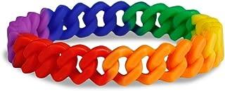 LGBTQ - Rainbow Chain Link Bracelet - Support LGBTQ Cause (1 Bracelet)