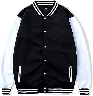 XFentech Fashion Baseball Jacket - Unisex Soft Breathable Thin Casual Colorblock Varsity Sweatshirts