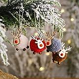 4 adornos colgantes de árbol de Navidad Kawaii reno alce gnomo pompón de felpa colgante de felpa decoración de muñeca de punto, hogar, cocina, invierno, Navidad, puerta, ventana de pared