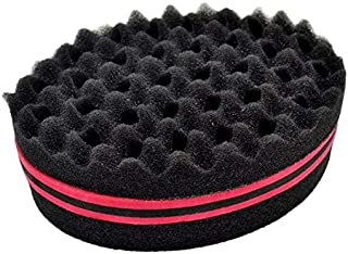 Double Sided Barber Hair Brush Sponge Dreads Locking Twists Coil Afro Curl Wave