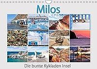 Milos - die bunte Kykladen Insel (Wandkalender 2022 DIN A4 quer): Das griechische Flair verfallen, vom Urlaub traeumen. Der Reisefotograf Max Watzinger entfuehrt sie mit eindrucksvollen Bildern auf seine Trauminsel. (Monatskalender, 14 Seiten )