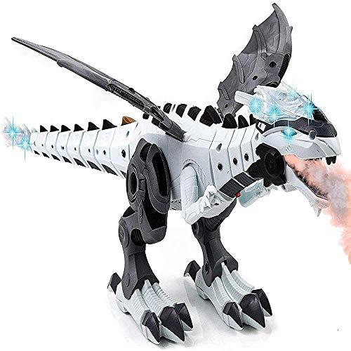 Toytykes Dinosaur Toy, White Dinosaur Robot, Walking...