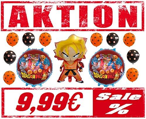 Dragonball Z Super XL Set Folienballon Luftballon Ballon Helium Kindergeburtstag Geburtstag Party Deko Son Goku / Vegeta super Saiyajin