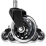 Office Chair Wheels, Replacement Wheel for Desk, Office Chairs Set of 5, Office Chair Ball Casters for Chairs to Replace Office Chair Mats