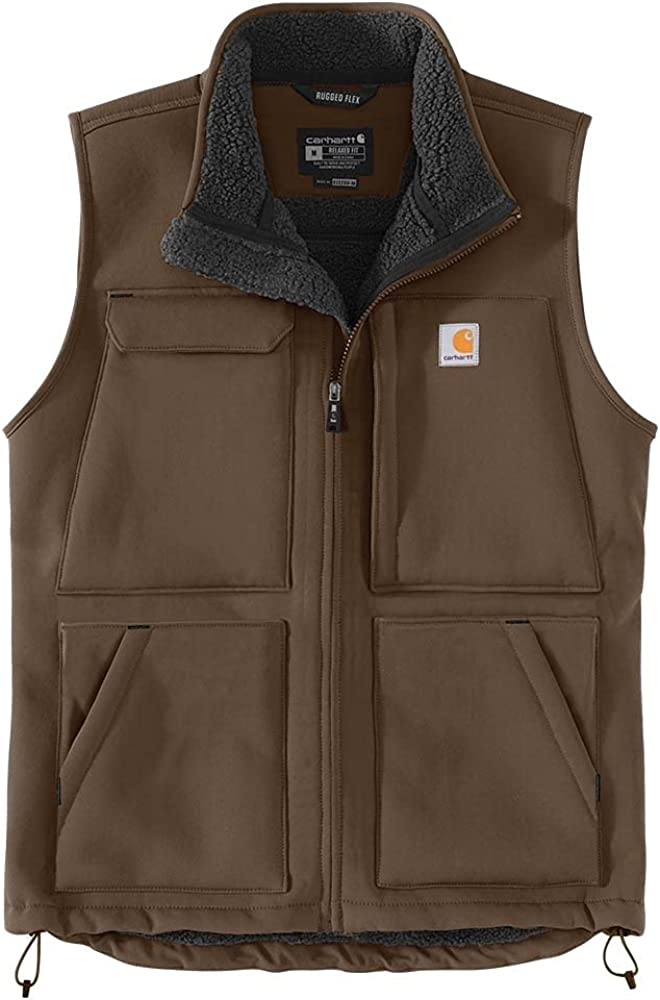 Carhartt mens Super Dux Relaxed Fit Sherpa-lined Vest