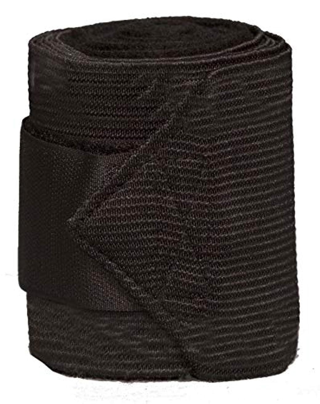 冗長自体種【Amazon.co.jp 限定】ジャクソン(Jacson) 馬用 包帯/脚パッド 包帯フリース/弾性4-P Bandage Fleece/Elastic 4-p ブラック 10cmx3m 580369 580369 [並行輸入品]