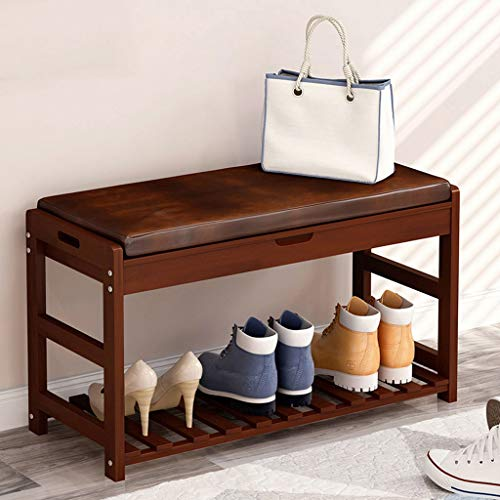 AMYAL Schoenbank massief houten schoenenrek Europese stijl schoen opslag organisator kast voor woonkamer entree hal garderobe