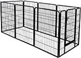 UNDERDOG Extra Heavy Duty Puppy Play Pen 8 x Panel Playpen Indoor/Outdoor Dog/Puppy Whelping Pen Pens (Large)