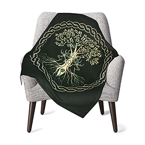 Celtic Ritual Norse Nordic Viking Goddess Wiccan New Baby Fleece Blanket Gifts for Boys and Girls, Muslin Swaddle Blankets for Baptism, Christening, Godchild, Baby Shower, Stroller, Crib 30 X 40 Inch