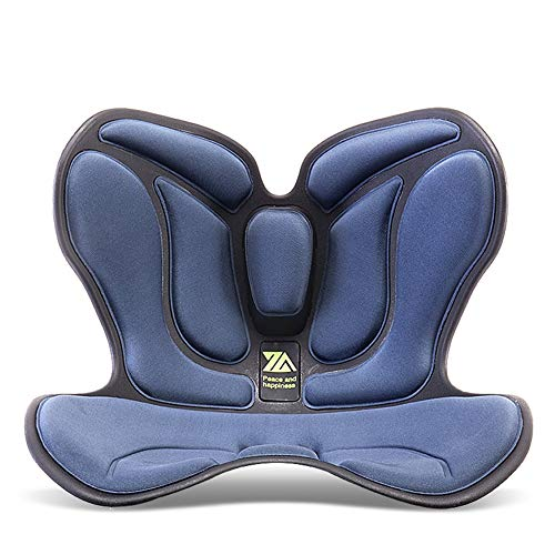 Cuscini a vita, bellissimi glutei sedili cuscini da ufficio, cuscini sedentari sedentari a forma di sedia anti-gozzo (Color : Blue)