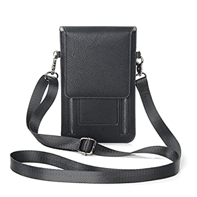 iPhone XS Max Case, YiMiky PU Leather Wallet Case with Cards Slot Holster with Clip for All Smartphone under 6.5 Inch for Samsung Galaxy for iPhone Crossbody Bag for Women by