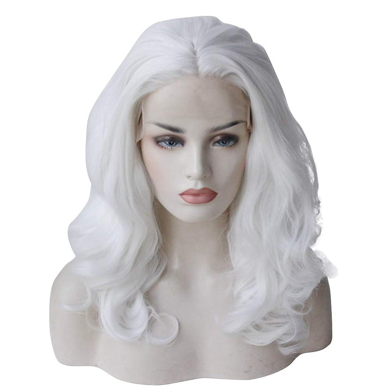 空虚思春期人質ショートカーリーウィッグフルヘッドハイエンドフロントレースケミカルファイバーウィッグヘッドギア完璧な合成毛の波状かつら、完璧