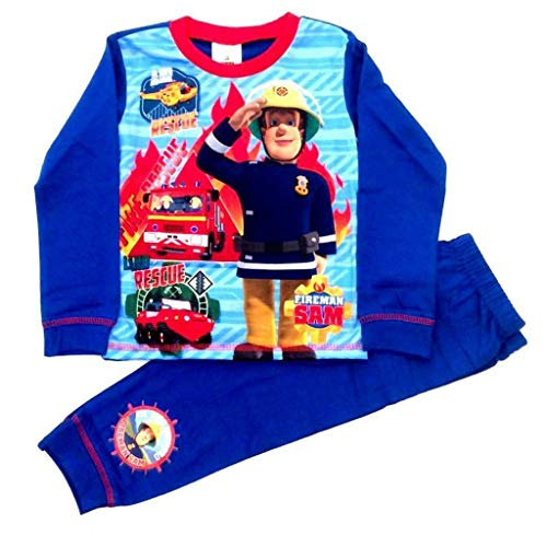 Licensed Feuerwehrmann SAM Jungen Pyjama Gr. 4/5 Jahre, Multi