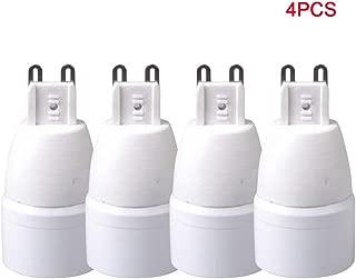 SUNERLORY Portalámparas 4pcs Adaptador Base Ahorro energía Hogar Fácil Instalar Práctico Convertidor Enchufe G9 a E14 Enchufe Bombilla Hotel ignífugo