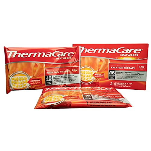 ThermaCare Back & Hip Wrap, Large/X-Large, Heat Therapy for Temporary Relief of Minor Muscular, Joint Aches & Pains, Air-Activated, Helps Rebuild Damaged Tissue & Accelerate Healing, Single Use, PK/2