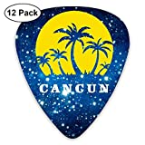 Cancun Mexico Sunset Palm Beach 351 Shape Classic Picks 12 Pack For Electric Guitar Acoustic Mandolin Bass
