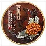 Dekoration Geprägte Malerei Eine Runde Veranda Malerei Segen Gemälde Chinesisches Wohnzimmer Korridor Dekorative Malerei Studie Wandbilder (Color : C)