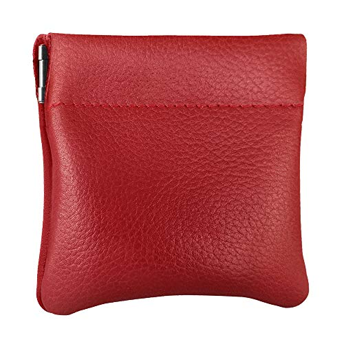 Nabob Leather Genuine Leather Squeeze Coin Purse, Pouch Made in U.S.A. Change Holder for Men/Woman Size 3.5 X 3.5