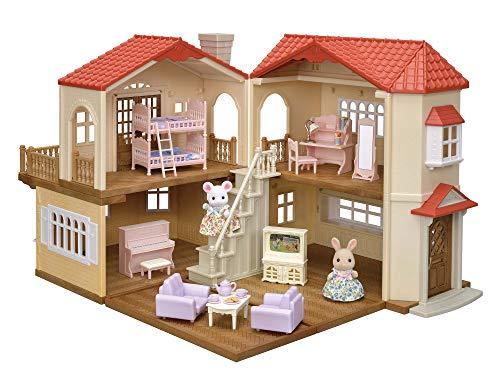 【Amazon.co.jp 限定】シルバニアファミリー 赤い屋根の大きなお家 デラックス —なかよしガールズセット—