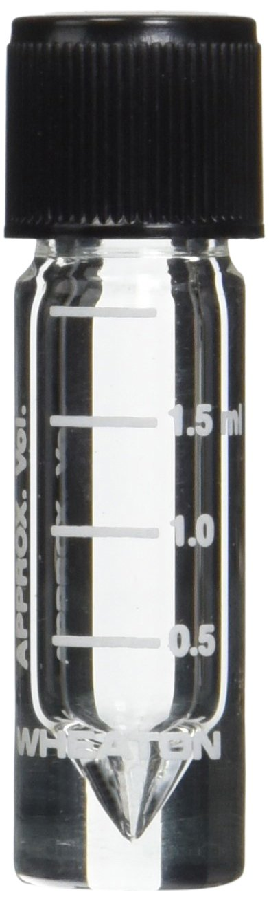Wheaton Don't miss the campaign Dedication W986276NG Clear Borosilicate Glass Screw Bot Conical Top