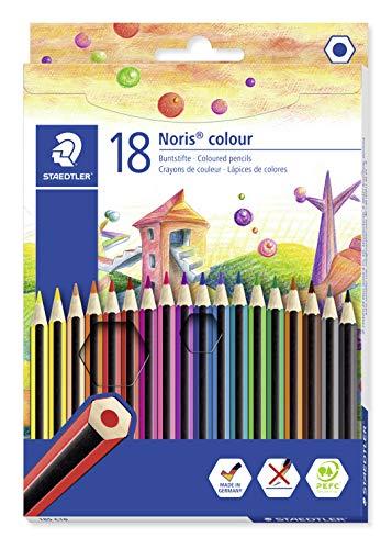 STAEDTLER Noris 185 C18 - Lápices ecológicos, Caja con 18 lápices de colores variados