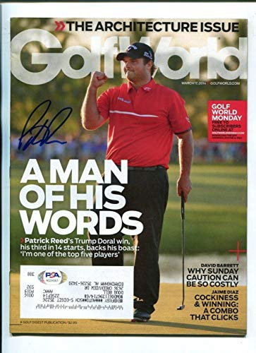 %32 OFF! Patrick Reed Signed 2014 Golf World Magazine Autographed PGA Golf - PSA/DNA Certified - Aut...