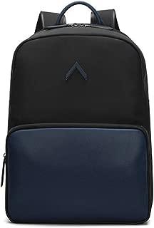 Bbwjsh Men's Business Backpack Wide Shoulder Bag Backpack Fashion Contrast Lightweight Large Capacity Computer Backpack (Color : 2)