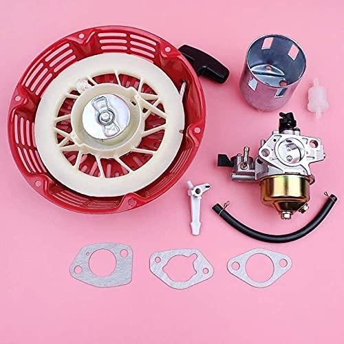 Piezas de muesca de arranque de retroceso de carburador para Honda GX390 13HP GX 390, motor de cortacésped, junta de carburador, línea de filtro de combustible Piezas de repuesto