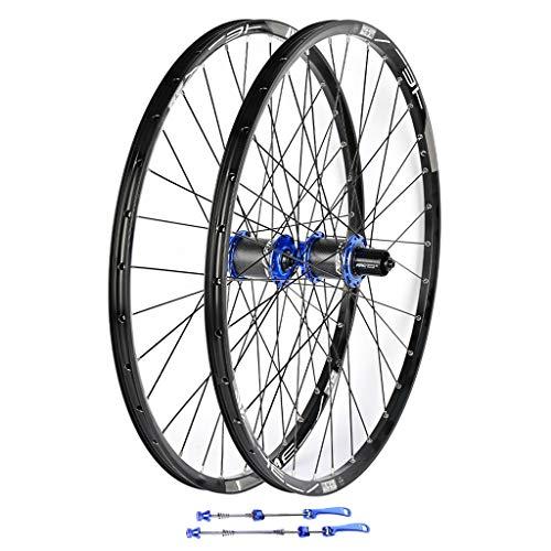 VPPV 26/27,5 Pulgadas Ruedas de Bicicleta MTB Cuesta Abajo Liberación Rápida Freno Disco Híbrido Montaña Rueda de Bicicleta Ciclismo (Color : Azul, Size : 29inch)
