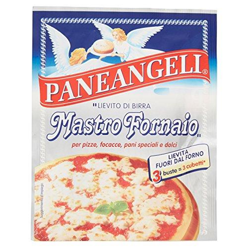 Paneangeli - 3 bustine di Lievito di birra disidratato Mastro fornaio, miscela per pizza e per...