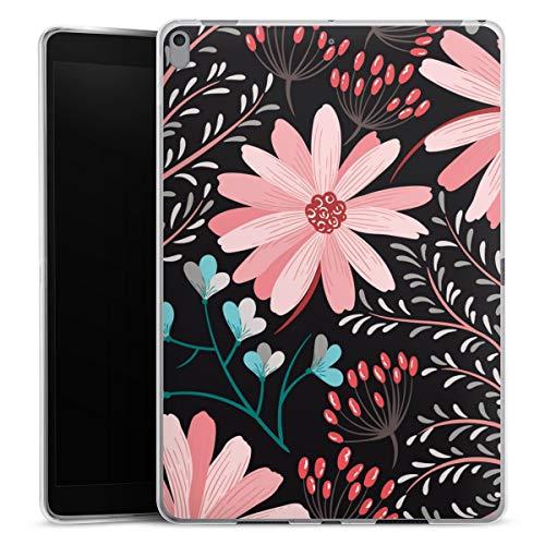 Siliconen hoes compatibel met Apple iPad Air (2019) case tablethoes Herfst Bloemen Bloem