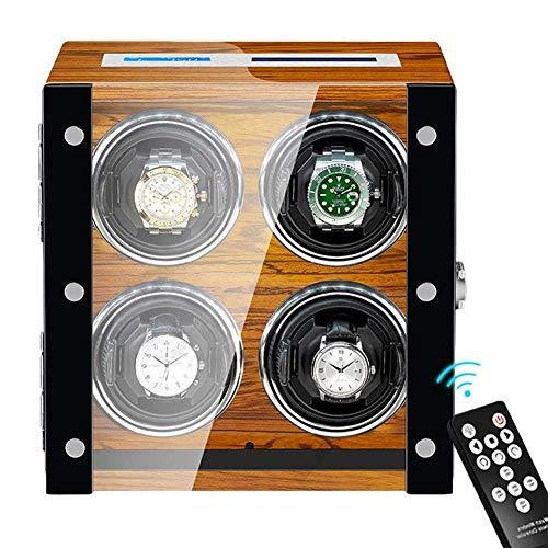ZCYXQR Devanadera de Reloj automática Caja de enrollador de Reloj Motor Extremadamente silencioso Pantalla táctil LCD Iluminación incorporada para Hombres Mujeres Reloj enrollador de Reloj