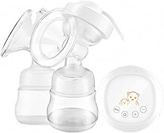 Portable Nursing Breast Massager 2-in-1 Double Electric Breast Pump Smart Breastfeeding Pump 2 Adjustable Mode and 9 Pumpi...