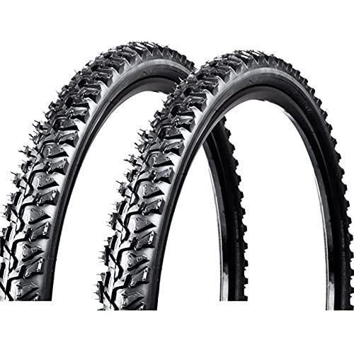 Llanta para Bicicleta,Cubiertas MTB (24x1.95 26x1.95 26x2.1),NeumáTicos para Bicicleta,Unisex Adulto, Negro,24 * 1.95
