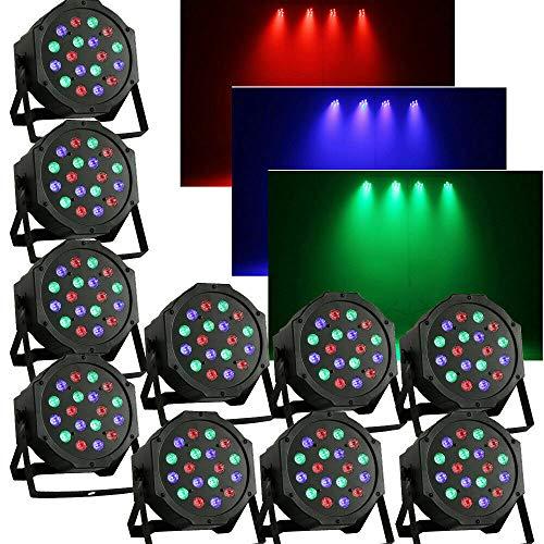 54W LED BüHnenlicht Par Scheinwerfer RGB Licht-Effekt Lampe DJ BüHnenbeleuchtung DMX 512 LED Stage Lighting FüR DJ-Show, Hausparty, TanzsäLe, Bands, Show-Bar Etc