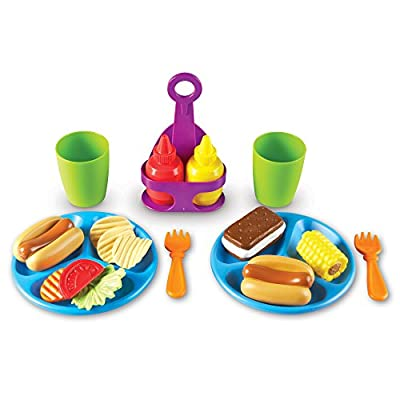Learning Resources New Sprouts Cookout! Food, Pretend Play Food, Toddler Outdoor Toys, 19 Pieces, Ages 18 mos+ by Learning Resources