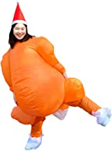 HUAYUARTS Inflatable Costume Roast Turkey Game Cloth Adult Funny Blow up Suit Halloween Chicken Cosplay Gift, Free Size