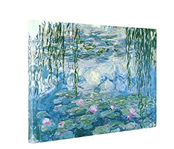 Niwo ART - Water Lilies 1916-19 by Claude Monet - Oil Painting Reproductions - Giclee Canvas Prints Wall Art for Home Decor Stretched and Framed Ready to Hang