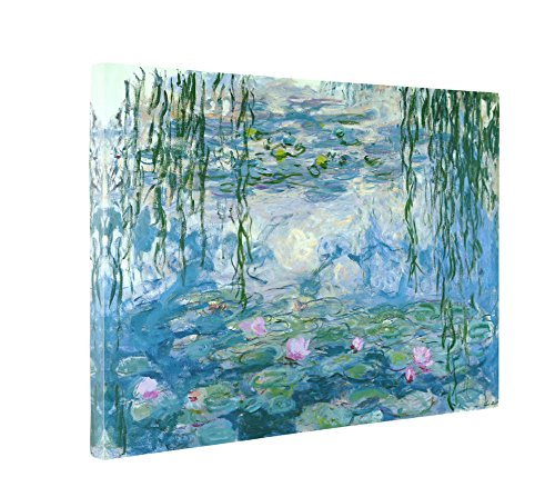 Niwo Art - Water Lilies 1916-19, by Claude Monet - Oil Painting Reproductions - Giclee Canvas Prints Wall Art for Home Decor, Stretched and Framed Ready to Hang