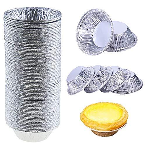 200 Pack Aluminum Foil Cake Pan Baking Pies Aluminum Foil Cups And Disposable Ramekins Pie Aluminum Foil Egg Art Mold Cup Aluminum Tin Foil Pot