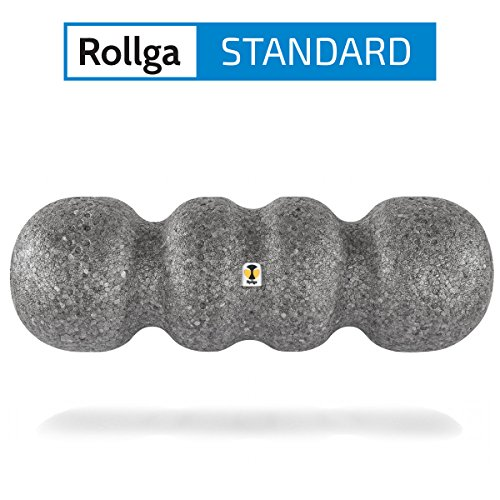Rollga Faszienrolle, Standard, grau – 45 cm, patentierte 4-Zonen-Formung
