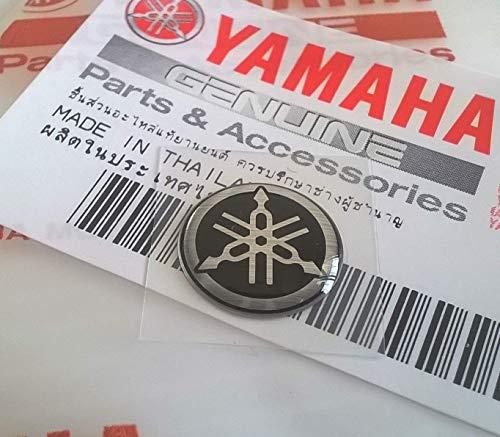 100% Original 12mm Durchmesser Yamaha Stimmgabel Aufkleber Emblem Logo Silber Schwarz Gewölbt Gel Harz Selbstklebend Motorrad Jet Ski /Atv /Schneemobil/ Gitarre