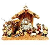Set di presepi tradizionali con stabili, presepi, regali religiosi cristiani cattolici, forniture per la chiesa, presepe per la famiglia santa (13 cm, 14 pezzi, colore)