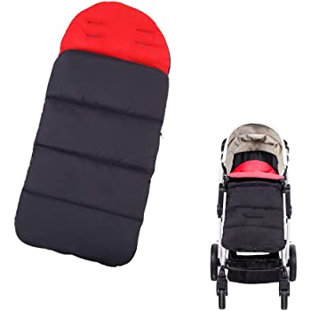 Winter Warm Bunting Bags Universal Baby Infant Stroller Sleeping Bag Windproof Thermal Thick Fleece Lining Toddler Footmuff Anti-Kicking Sleeping Nest Stroller Blanket Cover 0-3 Yrs Black
